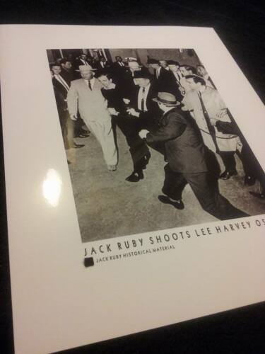 SWATCH PIECE owned personal JFK assassination 8x10 JACK RUBY Lee Harvey Oswald