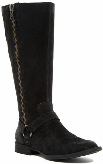 NEW Born Delall Suede Riding Boot, Black Suede, Women Size 6, $245