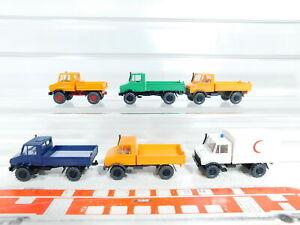 Bx384-0-5-6x-Wiking-1-87-h0-Mercedes-Benz-mb-Unimog-Neuw