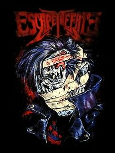 ESCAPE-THE-FATE-cd-lgo-ZOMBIE-ROCKER-Official-2010-Tour-SHIRT-XL-New-OOP