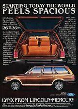 1981 Mercury Lynx Station Wagon -  Original Car Advertisement Print Ad J280