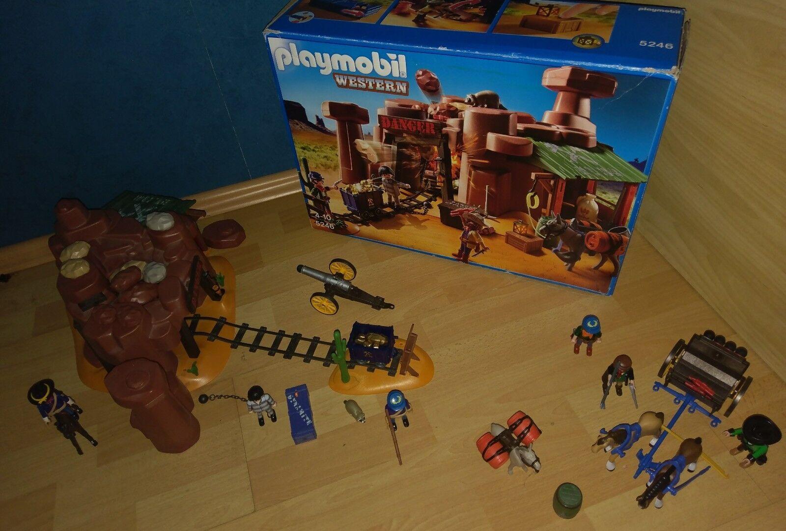 Playmobil 5246 Goldmine mit sprengkiste und 5249 Kavallerie Wagen