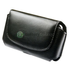 BLACK LEATHER CASE POUCH FOR MS ZUNE HD 16GB 32GB
