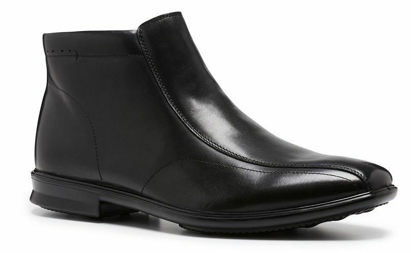 Mens HUSH PUPPIES CHRIS Black WIDE FORMAL DRESS WORK CASUAL LEATHER SHOES BOOTS