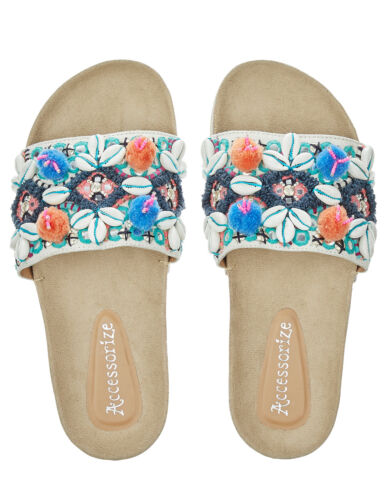 Orlanda Pom Accessorize Sandali 10 Slides Monsoon 8 Bead 42 Slider Footbed x5fvwX