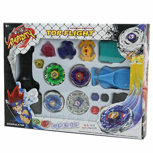 Metal-Master-Fusion-Top-Rapidity-Fight-Rare-Beyblade-4D-Launcher-Grip-Set-New-SQ