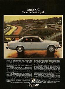 1976 Jaguar XJC AD black over white coupe car photo Vintage Print Advert