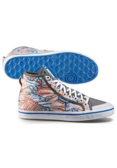 Adidas Honey Mid Gr.36,5-37 NEU Damen Schuhe Schuhes Sneaker Weiß Grau Bunt Canvas