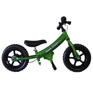 Glide-Bikes-Ezee-Glider-Unisex-Sleek-Kids-Adjustable-Mini-Balance-Bike-Green