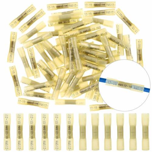 Schrumpfverbinder 1,5 mm² bis 2,5 mm² Stoßverbinder mit Schrumpfschlauch gelb