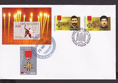 Nagorno Mountainous Karabakh Armenia 2015 Fdc Eroi Of Artsakh Order R17292 Strengthening Sinews And Bones Armenia