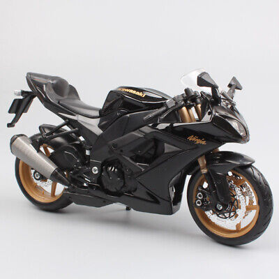 112 Maisto Kawasaki Ninja Zx10r Die Cast Scale Motorcycle Models Toy Motorbike Ebay