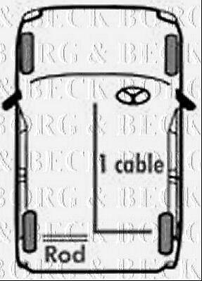 RH REAR fits Ford CaprI II III 74-88 BKB1140 BORG /& BECK BRAKE CABLE