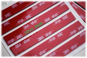 X5 - 3M™ VHB™ Double Sided Tape Very Strong Adhesive Sticky Pads 12mm x 80mm