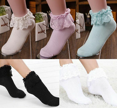 Ankle Socks Princess Girl Lace Frilly Hot Cute Fashion  Ruffle New Sweet Women