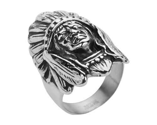 Men/'s Hot NEW Biker Motorcycle Stainless Steel Indian Head Ring Size 10-15