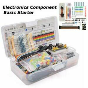Electronic Starter Kit for Resistor Buzzer Breadboard Dupont cable LED