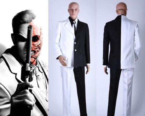 Batman Comic Harvey Dent Two-Face Cosplay Costume Business Suit Full Set HHJ.47