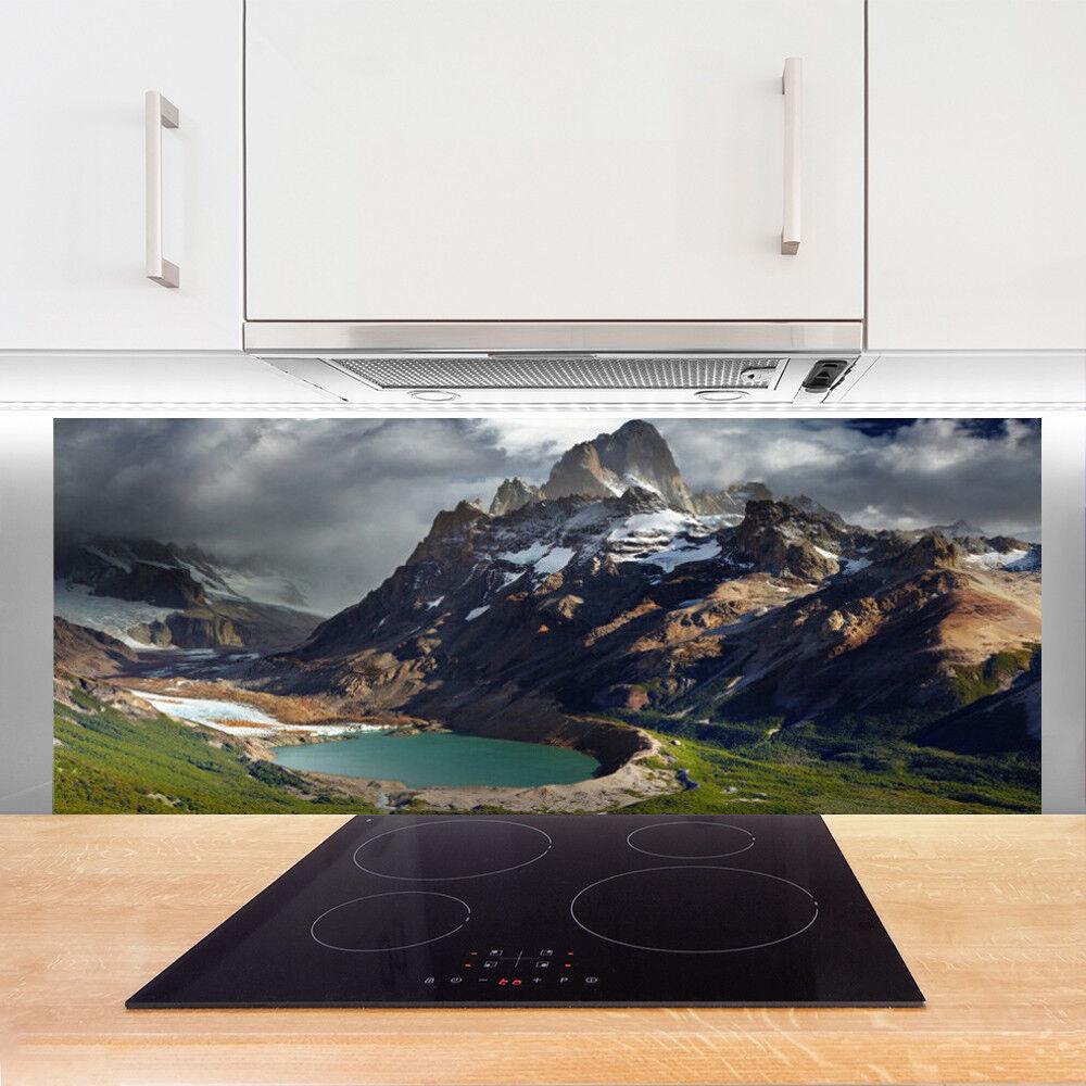 Crédence de cuisine en verre Panneau 125x50 Paysage Montagne Montagne Montagne Baie 0a7b59