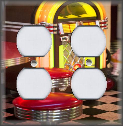 Diner Jukebox Decor Kitchen Decor Retro Decor Metal Light Switch Plate Cover