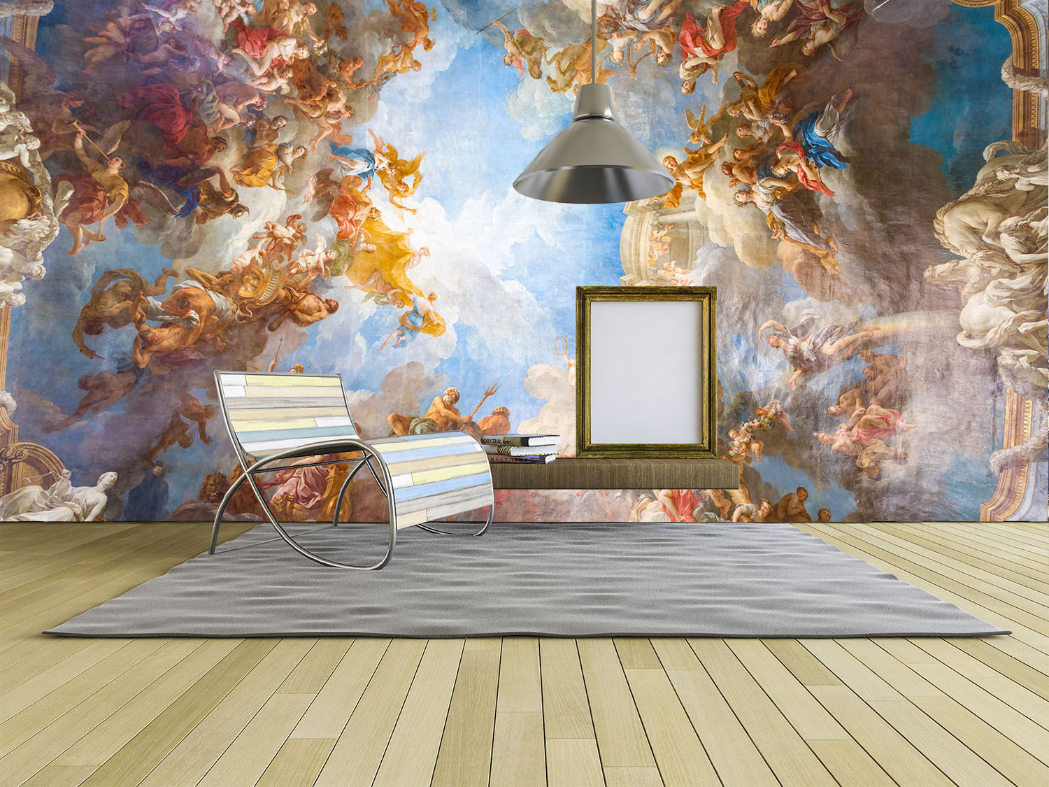 3D Blau Sky Farbe Painting Paper Wall Print Wall Decal Wall Deco Indoor Murals