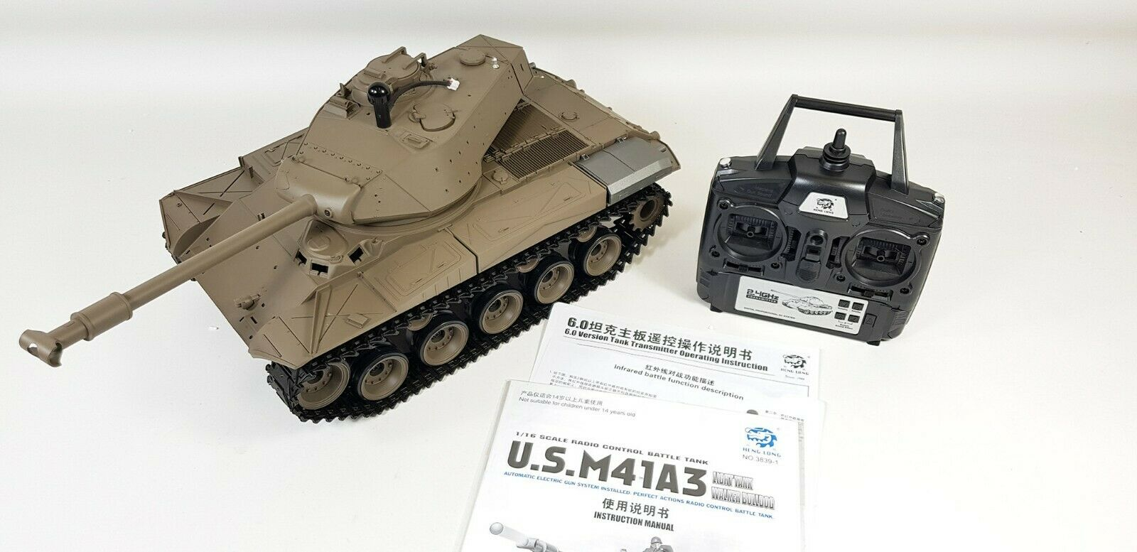 LATEST VERSION 6 2.4GHZ INFRARED HENG LONG WALKER BULLDOG RC TANK SMOKE SOUND