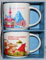 Disneyland & California Adventure Exclusive Starbucks You Are Here Mugs 2015