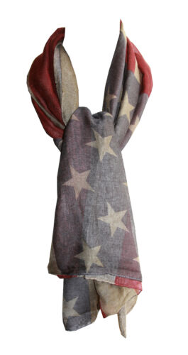 Long American Flag Square Scarf