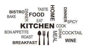 Kitchen-Kueche-Spruch-Wandtattoo-Wandsticker-Aufkleber-Zitat-Breakfast-Sticker