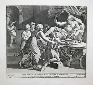 1674 Raphael Fanetti Vatican Bible Isaac Isaak Jacob Radierung etching