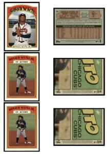 2021 Topps Heritage Ronald Acuna Jr. Lot Base #299 & In-Action #300 ATL Braves