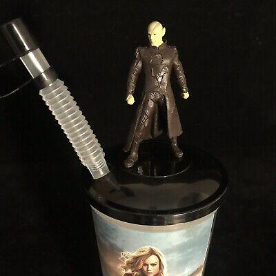 Disney Captain Marvel SKRULLS Figure Movie Cinema 0.5L Drinks Cup Topper