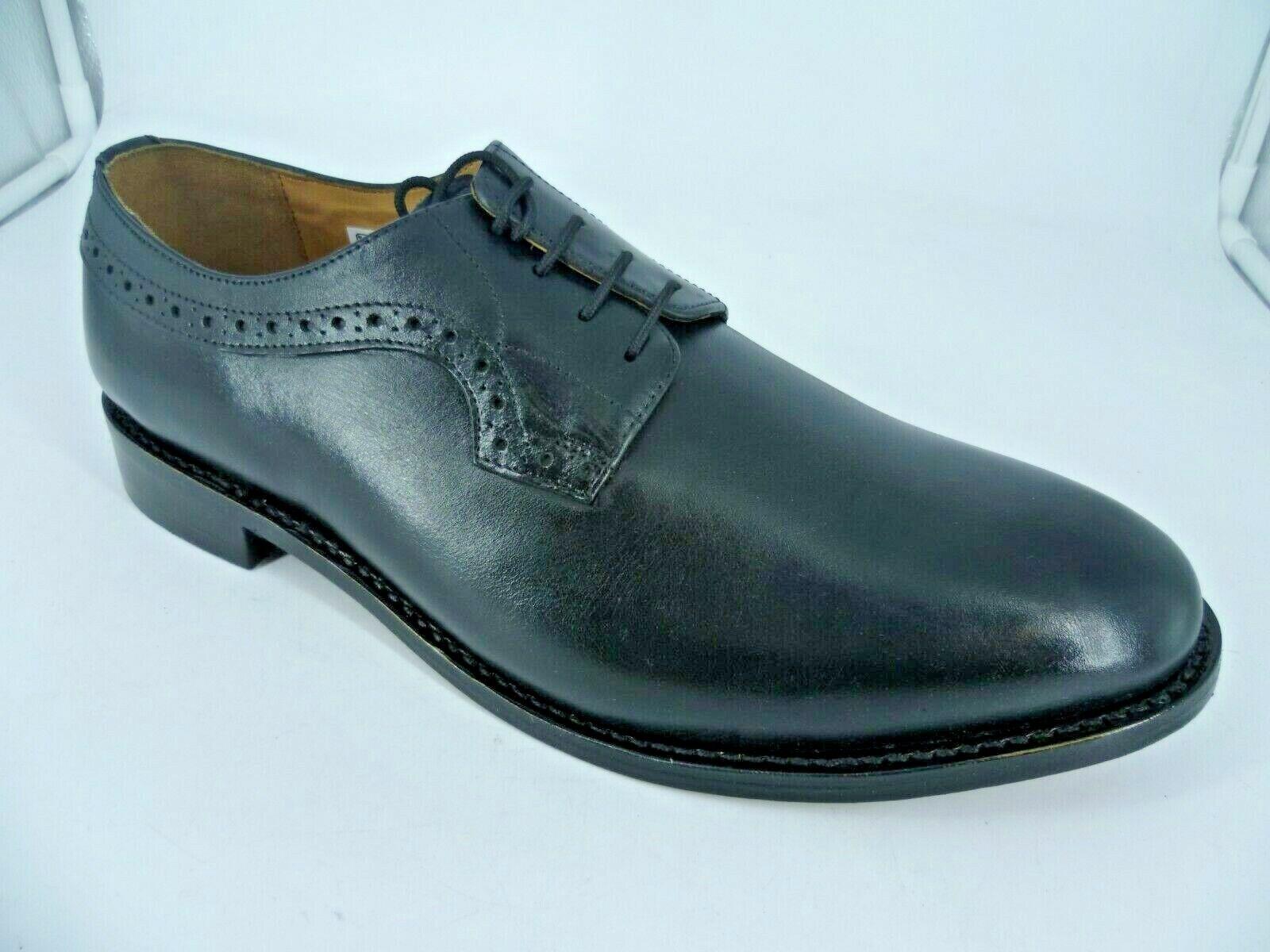 Samuel Windsor Quarter Brogue Black Lace Up shoes UK 12 EU 47 LN46 20