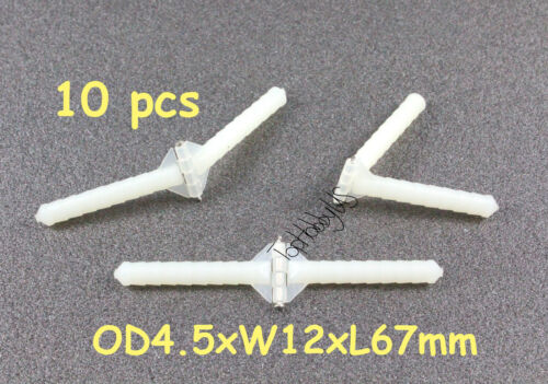 10pcs Super Light Nylon Pivot /& Round Hinges D4.5xW12xL67mm RC Plane TH008-00108
