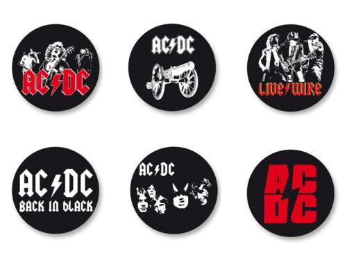 Lot Pack Magnet Aimant Frigo Ø38mm AC//DC Hard Rock US Angus Young