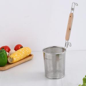 Acero inoxidable cocina tamiz mehlsieb para fideos, buñuelos, verduras