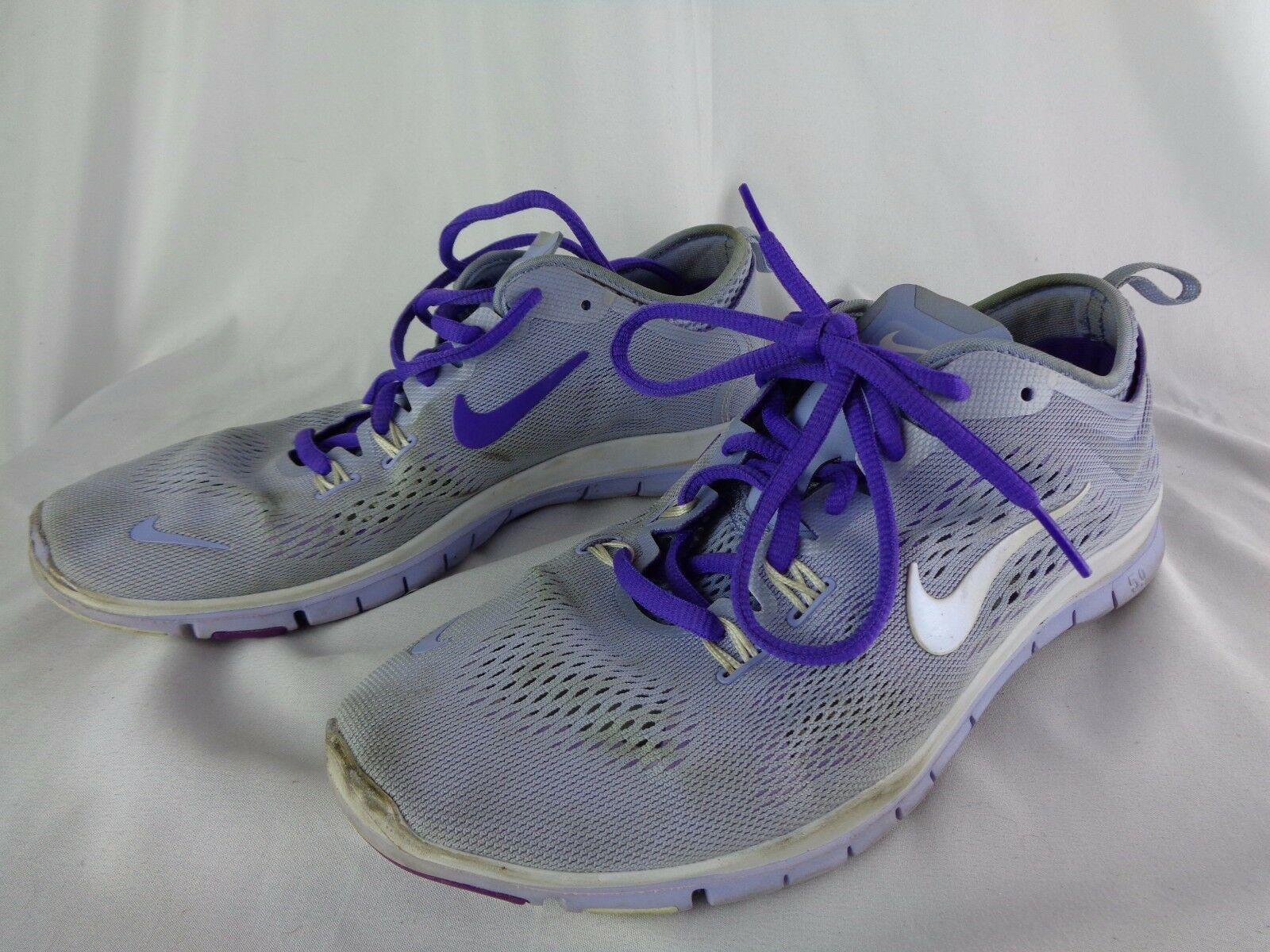 wholesale dealer 9ad22 e1cbc ... wholesale nike nike nike free tr fit 4 breath cross training chaussures  gray violet femmes 8.5