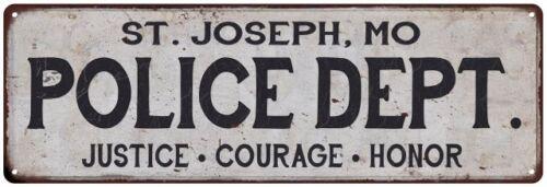 JOSEPH MO POLICE DEPT ST Home Decor Metal Sign Gift 106180012431