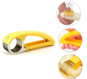 Stainless-Steel-Banana-Slicer-Fruit-Knife-Kitchen-Gadget-Bar-Tools-Veggie-Cutter