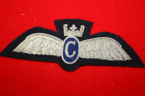 BRITISH CIVIL AIRLINE PILOT WING BADGE CLASSIC AIR CHARTER AIRWAY BULLION WIRE