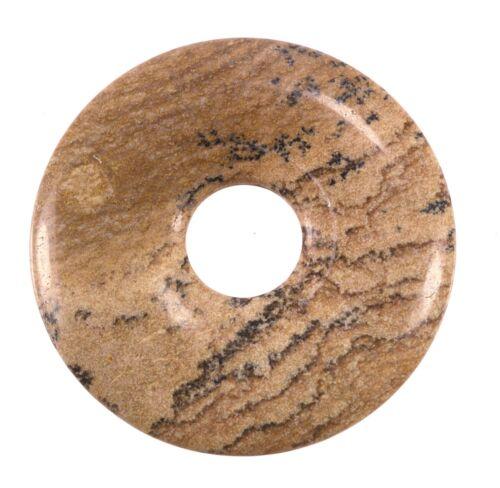 Landschaftsjaspis donut remolque Edelstein 30mm discos piedra Pi Steinheil piedra
