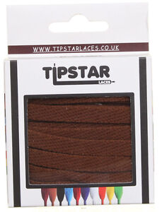 Tipstar Laces Flat Laces Unisex Other Fabric Laces - Brown