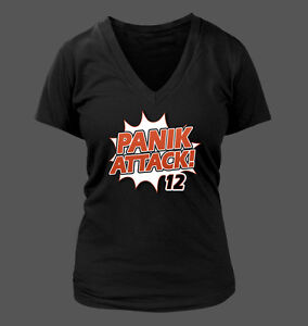 0f2976db Panik Attack Women's V-Neck T-Shirt - San Francisco Giants Joe Panik ...