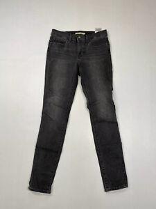 Levi-039-s-311-Shaping-Skinny-Jeans-w27-l30-grau-super-Zustand-Damen