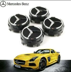 OEM-ALLOY-WHEEL-HUB-MERCEDES-AMG-CENTRE-CAPS-BLACK-75MM-A-B-C-E-S-ML-CLASS