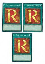 X3 YUGIOH R - RIGHTEOUS JUSTICE SDHS-EN030 COMMON (IN HAND)