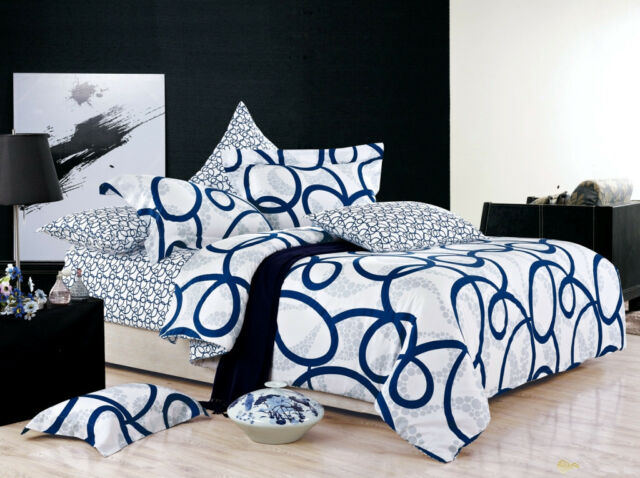 Single/Double/Queen/King Bed 100% Cotton Quilt/Duvet Cover Set-Cynos