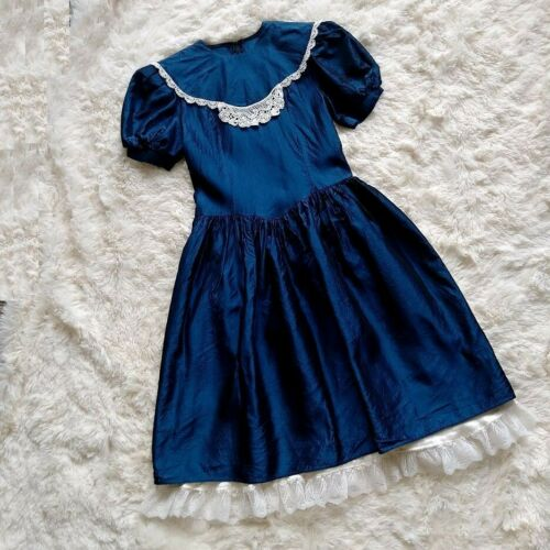Vintage 70s Jessica Mcclintock Gunne Sax blue dres