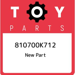 81070-0K712-Toyota-Unit-assy-headlamp-810700K712-New-Genuine-OEM-Part