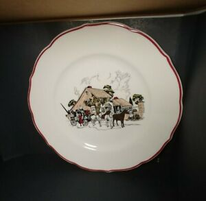Vintage-Sryacuse-China-Mrs-K-039-s-Toll-House-Silver-Springs-MD-9-5-034-Dinner-Plate